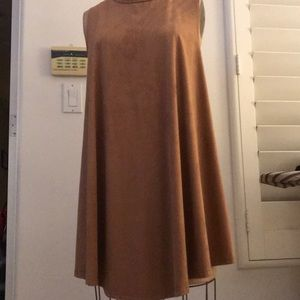 Nude shade shift dress